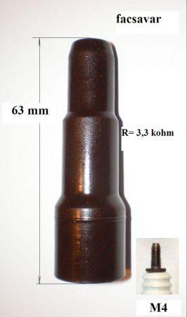 E-1 B klasszikus barna bakelit gyertyapipa