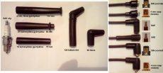 Szénszálas szilikon gyújtókábel fekete 7 mm