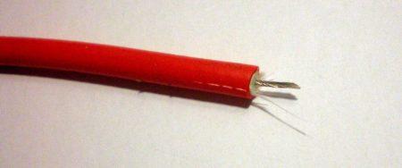 SIL-CU P rézszálas szilikon gyújtókábel piros